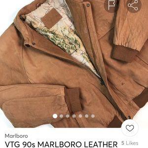 Marlboro Leather Adventure Team Vintage jacket